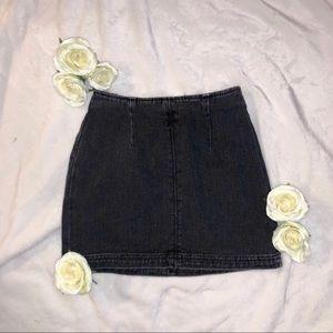 Black Denim Skirt   PacSun
